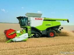 Услуги по уборке рапса пшеницы гороха гречки кукурузы подсол