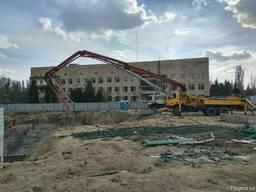 Услуги бетононасоса стрела 32м