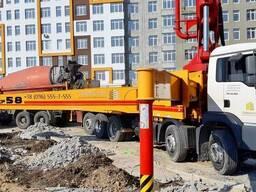 Услуги бетононасоса стрела 58м