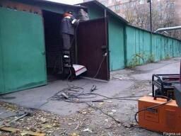 Ремонт металлических гаражей. Гененератор. Газосварка.