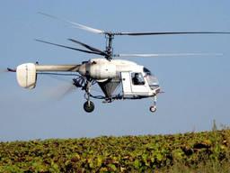 Услуги по десикации дельтапланом вертолетом кукурузником