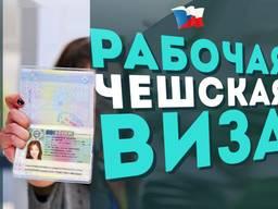 Полный пакет документов на рабочую визу в Чехию на 6 мес.