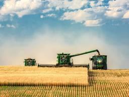 Услуги по уборке урожая рапса зерновых сои кукурузы подболну