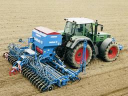 Услуги посева зерновых культур, аренда сеялки точного высева