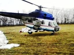 Услуги разбрасывателя удобрений: вертолет Ми-2 самолет Ан-2