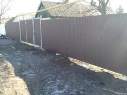 Установим или помогу установить ворота забор из профнастила