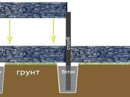 Установка бетонного забора