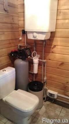 Установка для умягчения и удаления железа в банный домик