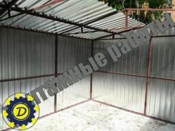 Установка гаража из профнастила в Полтаве