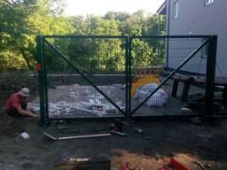 Установка и монтаж ворот и калиток из сетки
