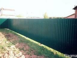 Установка изготовление заборов ворот калиток из профнастила
