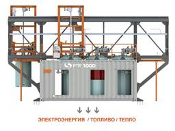 Оборудование для переработки мусора. Установка PTR 1000кВт.