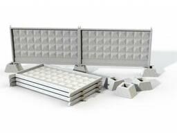Заборные плиты жби б/у или лежалые