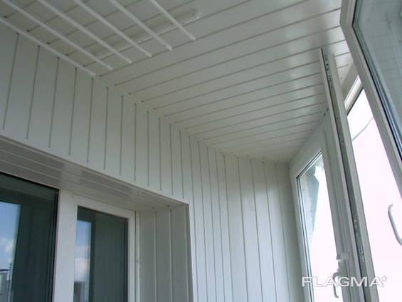 Утепление балкона пластиком