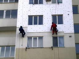 Утепление стен пенопластом фасадов зданий