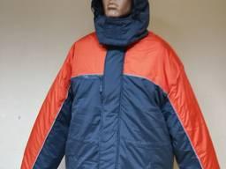 Утепленные куртки для итр серо-оранжевые