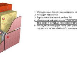 Утеплитель Техновент Стандарт 50/100 мм в плитах.