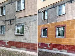 Утепление стен фасадов термопанели (гибкий камень)