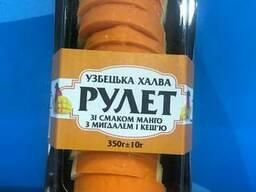 Узбекская халва Рулет со вкусом манго с миндалем и кешью