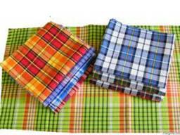 Вафельные полотенца цветные в клетку 45х75.
