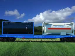 Вагон-платформа для крупнотоннажных контейнеров модели 13-95