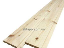 Вагонка дерев'яна 100х15х2450 мм Сосна