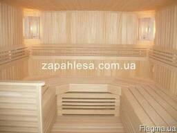 Лежак для бані, сауни (брус лавочний, полиці)