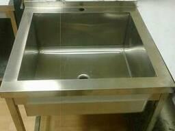 Ванна моечная 1-секционная 600х600 нержавейка на каркасе