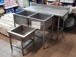 Ванна моечная стол производственная нержавейка мойка б/у