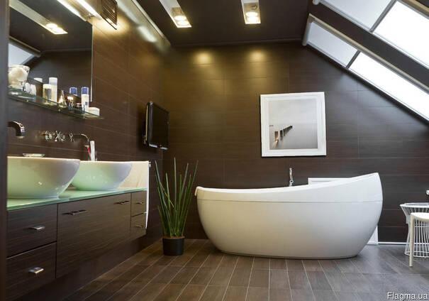 Ванная Комната на Мансарде Дверь/Сантехника