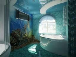 Ванная комната в морском стиле, сантехник, электрик, отделка
