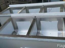 Ванны моечные промышленные из нержавейки для столовых и кафе