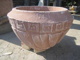"""Вазон """"Греція"""", бетонна, садово-паркова d570*h350"""