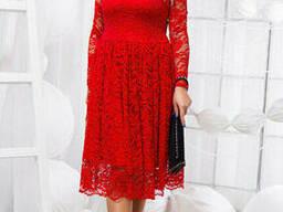 Вечернее гипюровое платье (48-54) , доставка по Украине