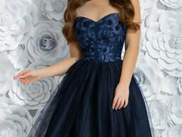 Вечернее платье миди на выпускной с 42 по 46 размер