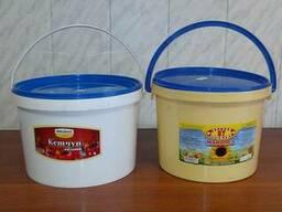 Ведро п/э б/у пищевое на 5 л. из-под пищевых продуктов