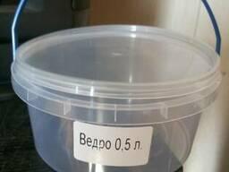Ведро пищевое пластиковое 0,5л от производителя