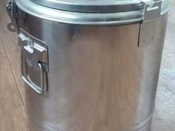 Ведро пищевое с крышкой для перевозки первых блюд
