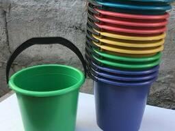Ведро пластиковое 10л цветное