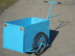 Вело прицеп грузовая тележка, с увеличенным кузовом Везун-