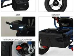 Велосипед M 3115HA-3L три кол. резина (12/10), коляс. USB/BT, свет, св. ход. ..