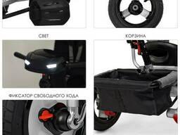 Велосипед M 3115HA-19L три кол. рез (12/10), колясоч. USB/BT, свет, св. ход. ..