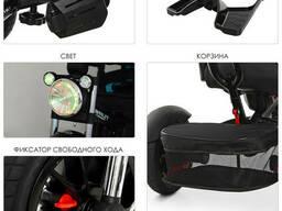 Велосипед M 4056HA-20-15 три кол. резина (12/10), колясочн, поворот, муз, черный