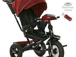 Велосипед M 4060HA-1L три кол. резина (12/10) красный лен