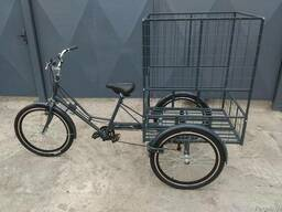 Велосипед трёхколёсный взрослый грузовой