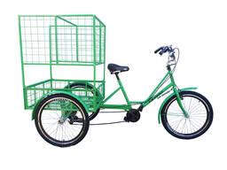 """Велосипед трёхколёсный взрослый грузовой """"Цветочный"""""""