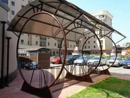 Велосипедная парковка с навесом