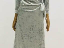 Велюровый халат женский на запах 44-52р , доставка по. ..