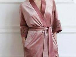 Велюровые халаты Турция