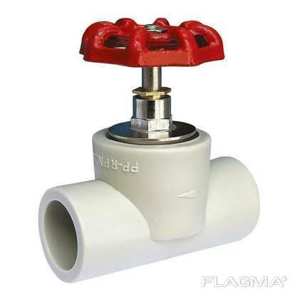 Вентиль 25 мм VS Plast полипропиленовый проходной